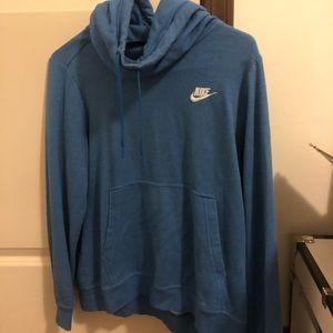 size medium women's blue nike hoodie